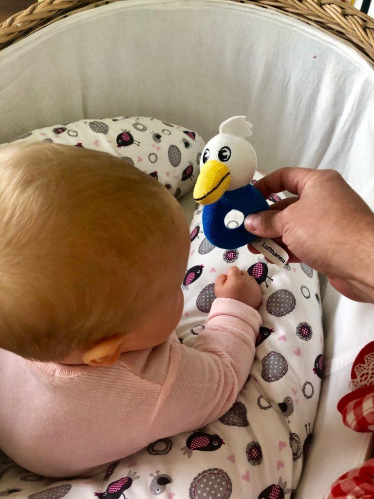Lufthansa Spielzeug Rassel