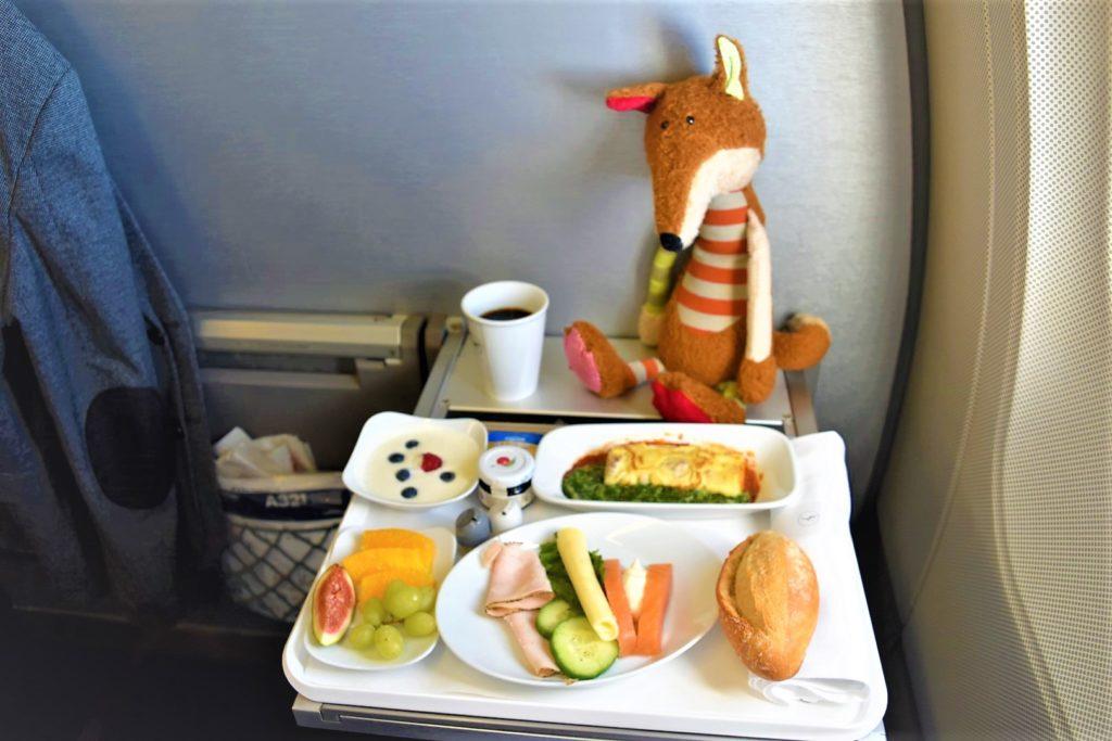 Lufthansa Business Class Frühstück