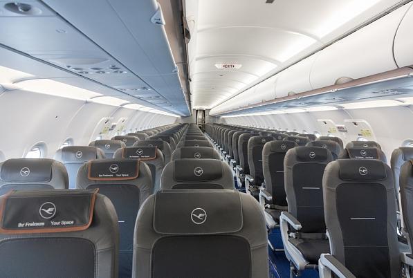Leere Lufthansa Maschine Airbus A320