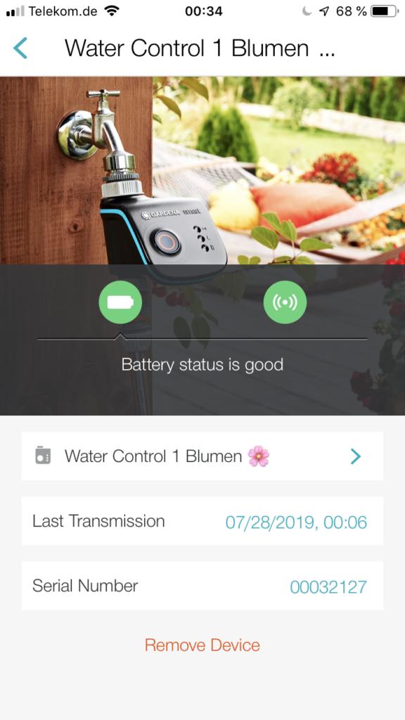 Gardena App fir iPhone und Andriod Geräte