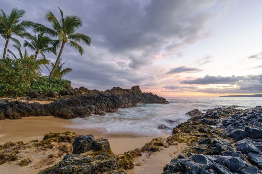 Vulkanstrand auf Maui, Hawaii
