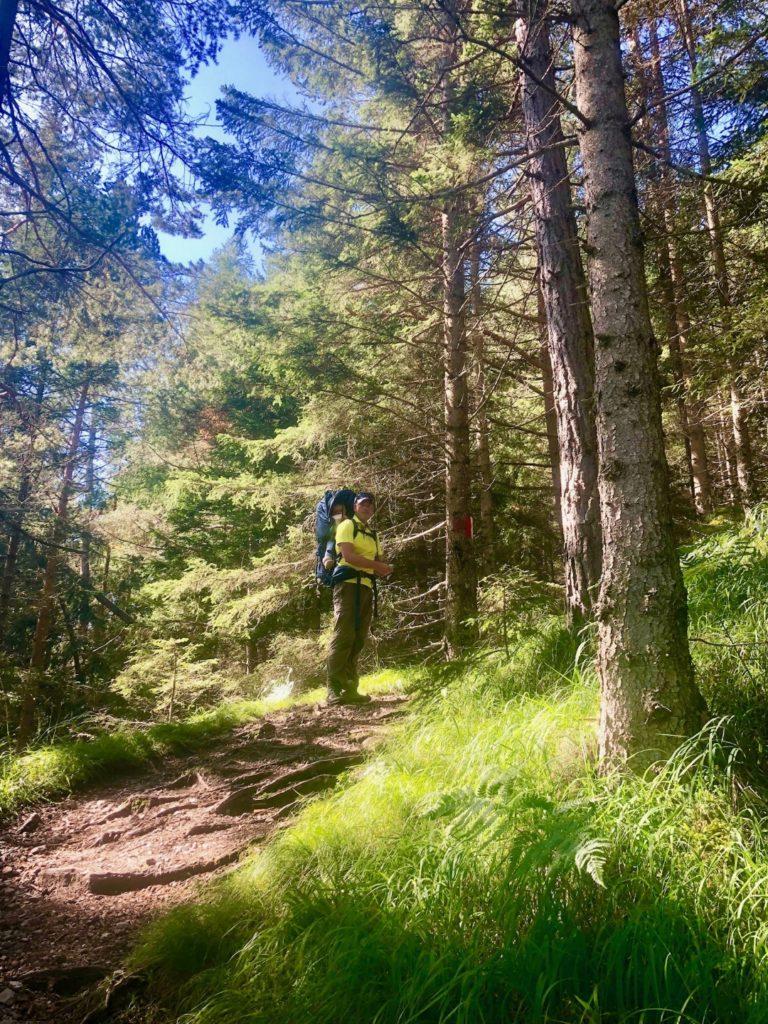 Hoppla - ist der Alpsteig steil