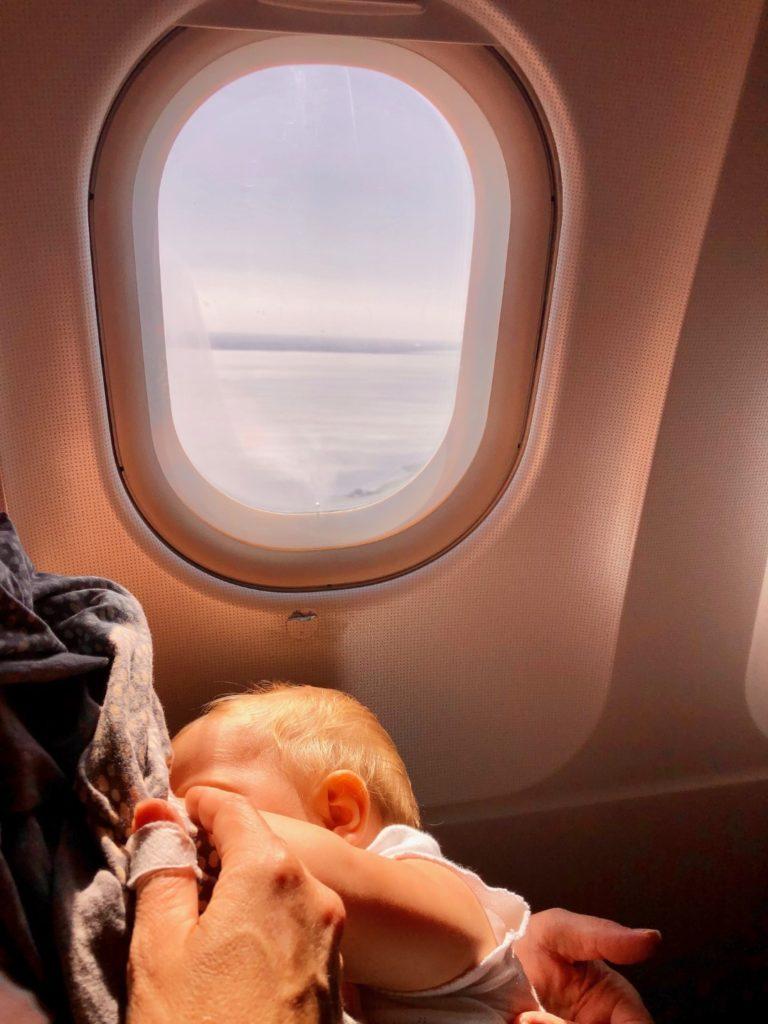 Stillen auf 10.000 Meter Höhe, SAS Airbus A320 München - Kopenhagen