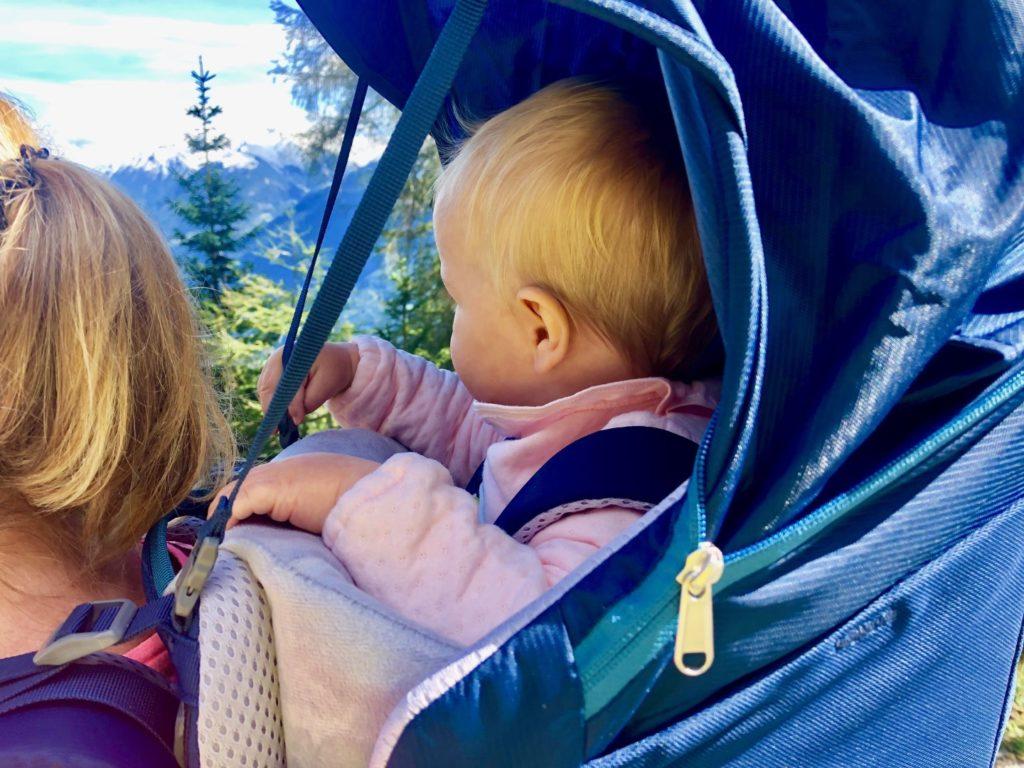 Sonnenschutz beim Deuter Kid Comfort Pro