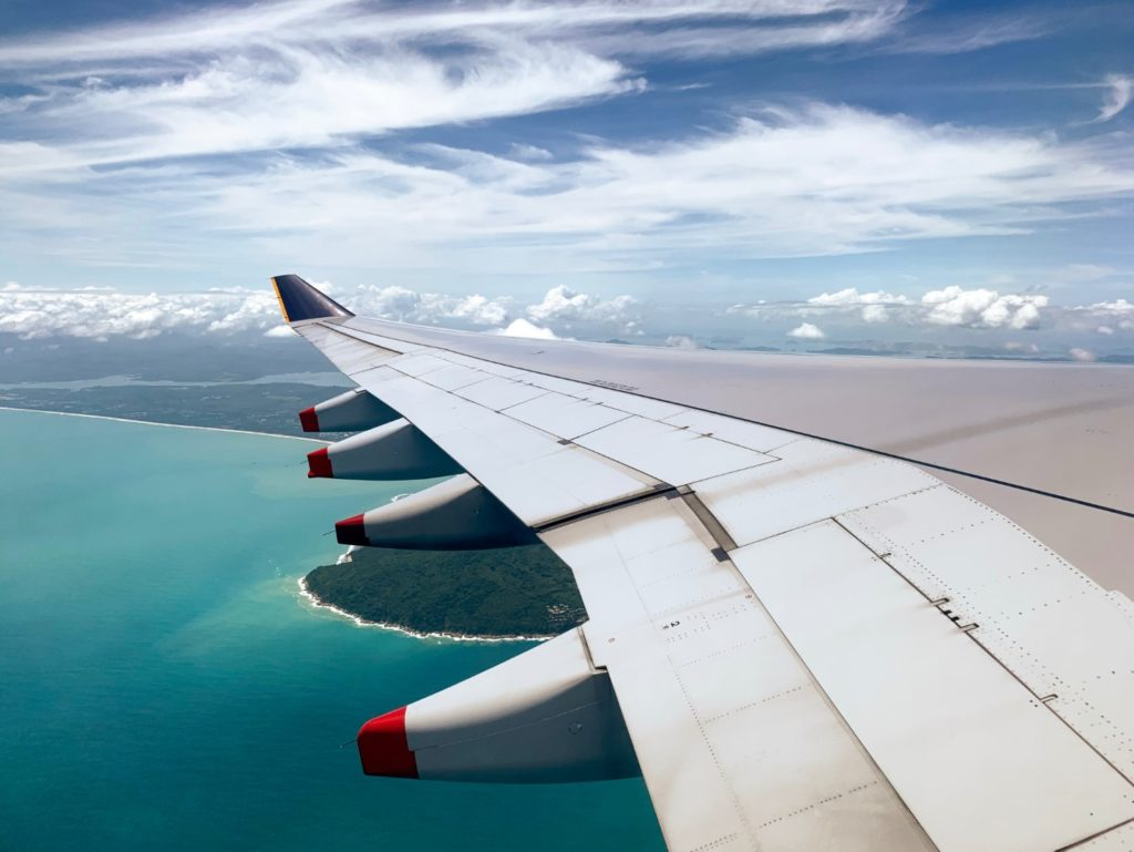 Anflug auf Phuket, Thailand mit Air China