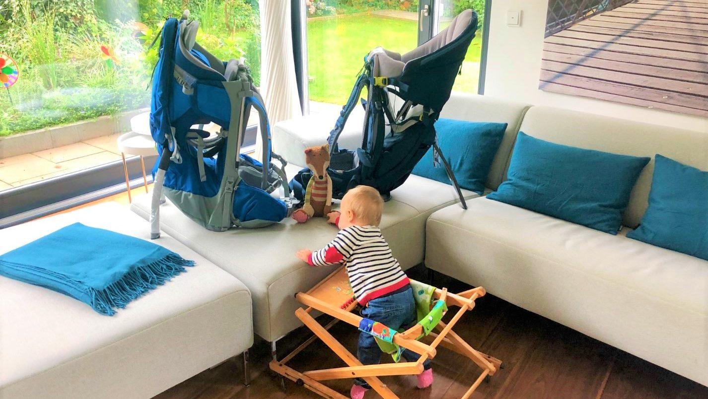 Die besten Kindertragen im Test: Deuter Kid Comfort Pro und Thule Sapling Elite im Vergleich