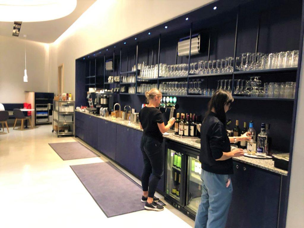 Finnair Lounge, Helisnki Airport - unspectular