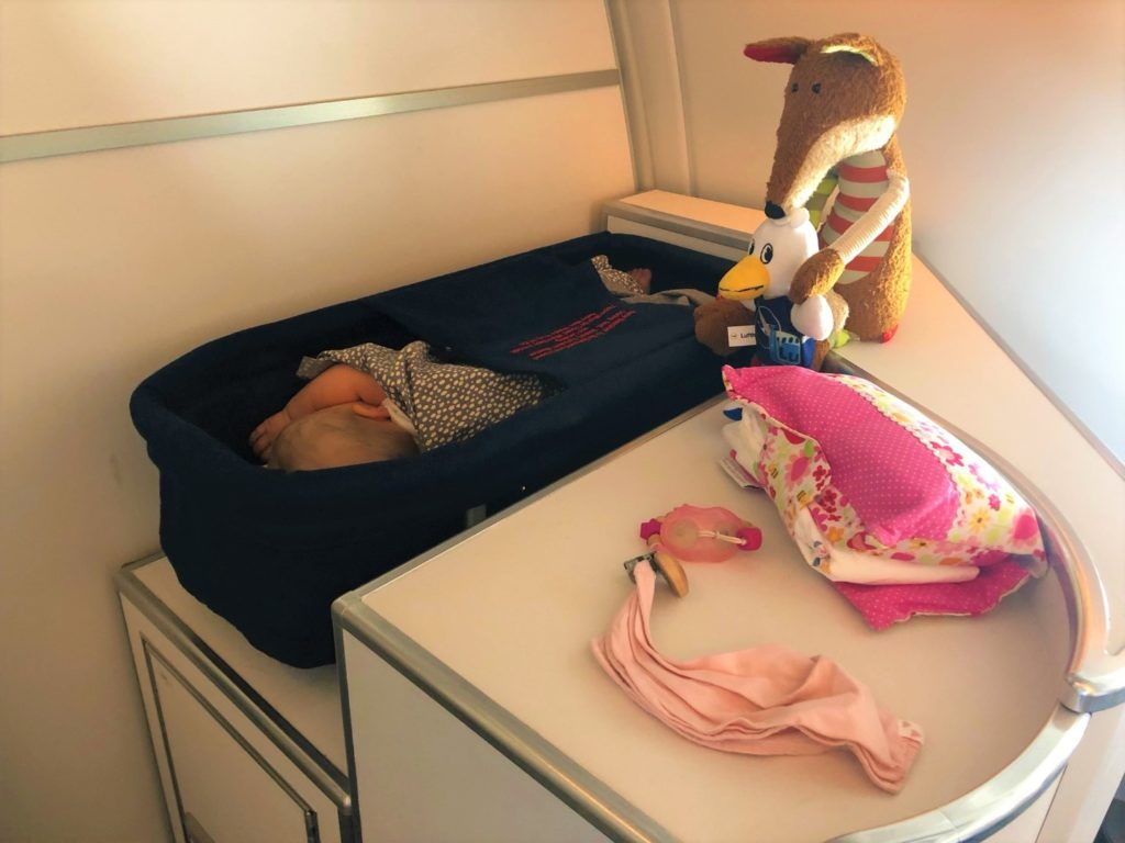 Baby Bassinet Finnair Airbus 350 Business Class