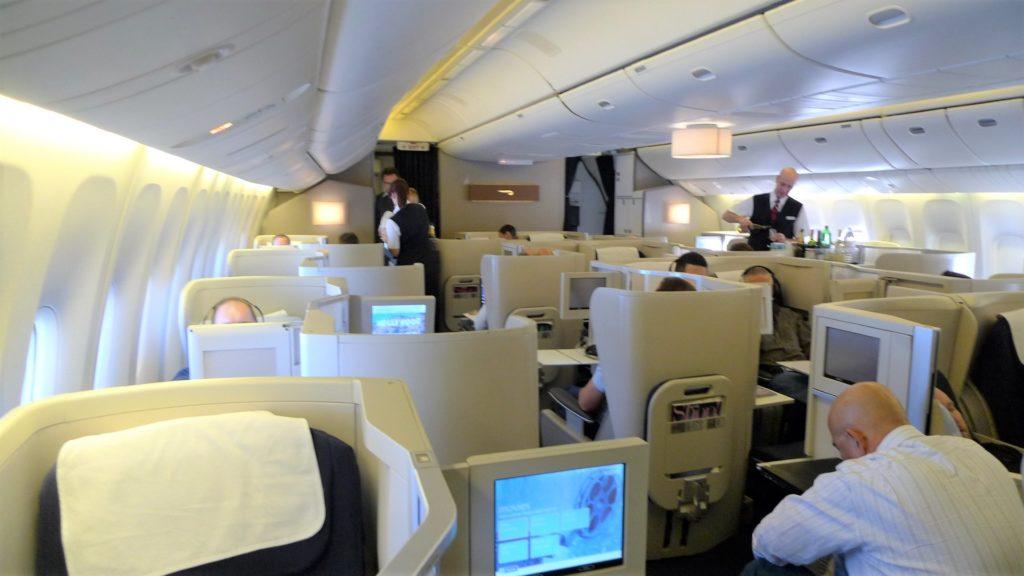British Airways Club World Boeing 747-400 mit 8 Sitzen pro Reihe