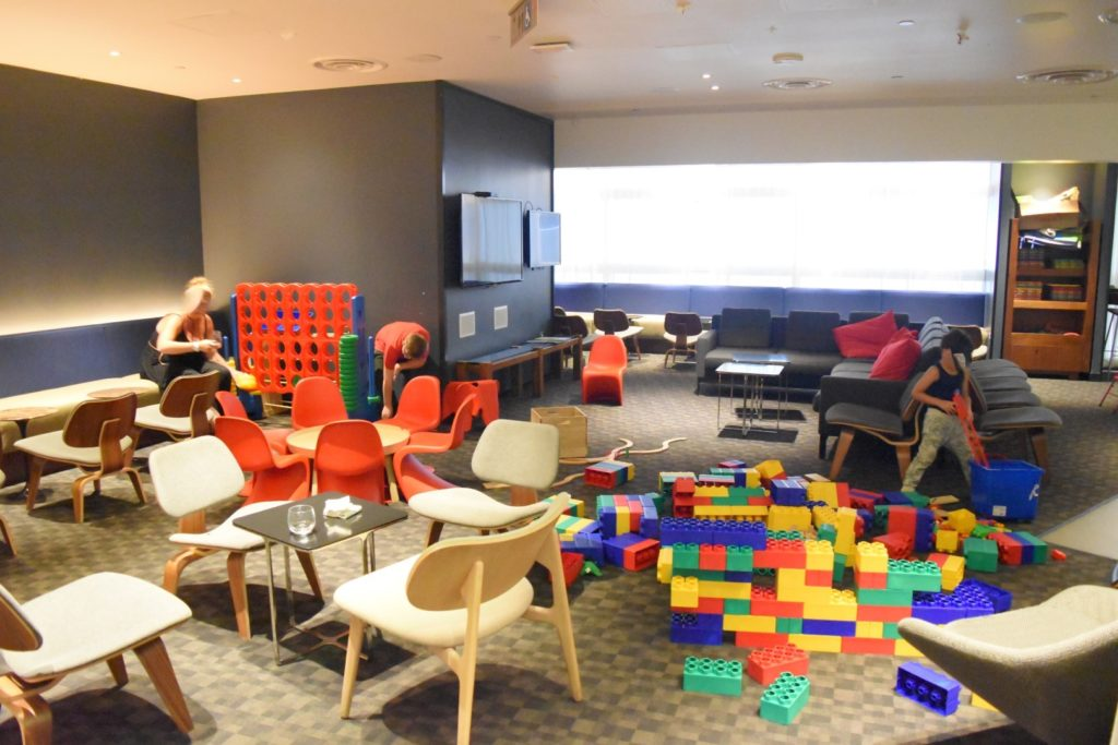 Kids Area in der Oneworld Business Lounge, Los Angeles Airport (LAX)