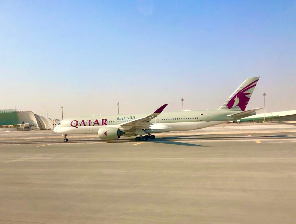 Qatar Airways Airbus A350 am Flughafen Doha