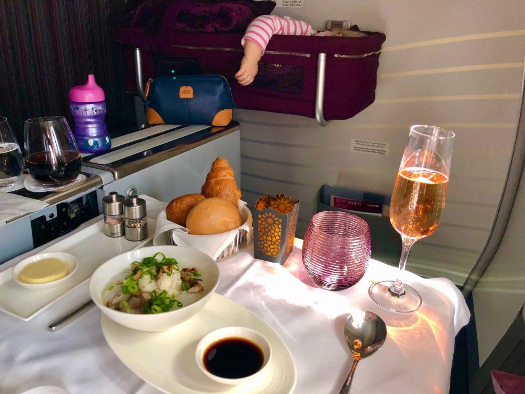 Baby Bassinet Qatar Airways Bowing 777 Bali