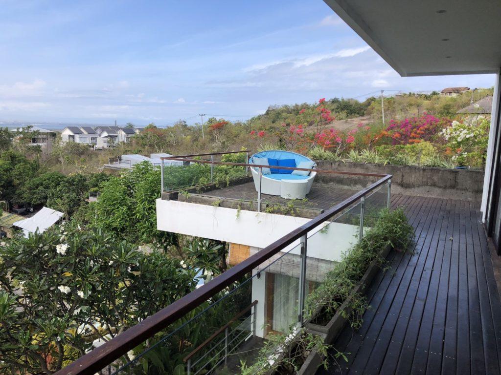 Terrasse vom Master Bedroom mit Lounge-Insel