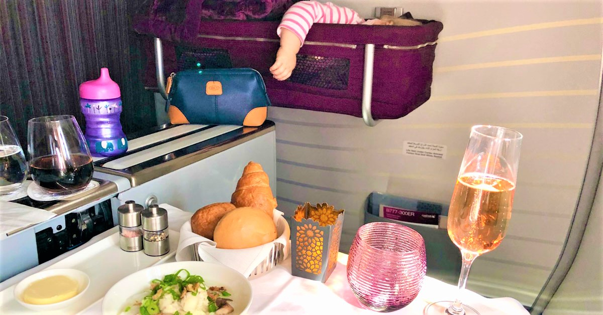 Baby-Test: Qatar Airways in der Business Class nach Bali