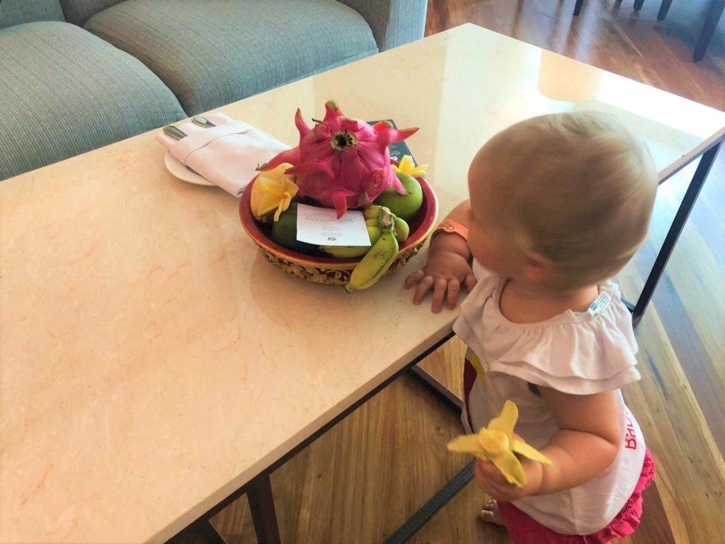 Hoppla - die kleinen Bananen schmecken mir als Baby besonders