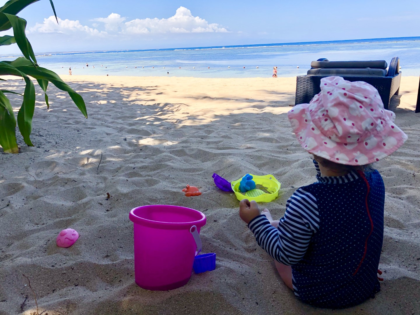 Baby-Test: Sandburgen bauen auf Bali – im Laguna Luxury Collection Resort & Spa