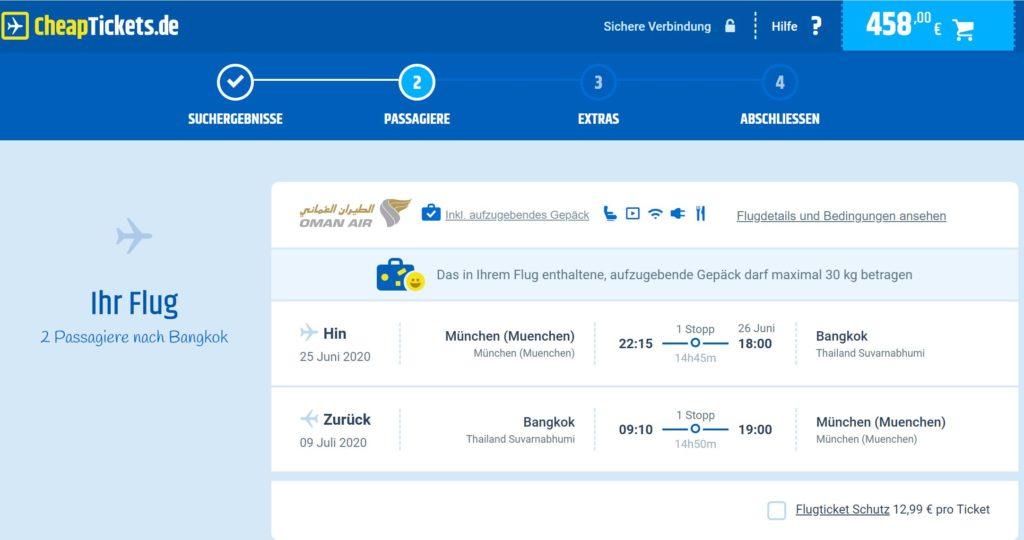 Abflugdaten Frankfurt