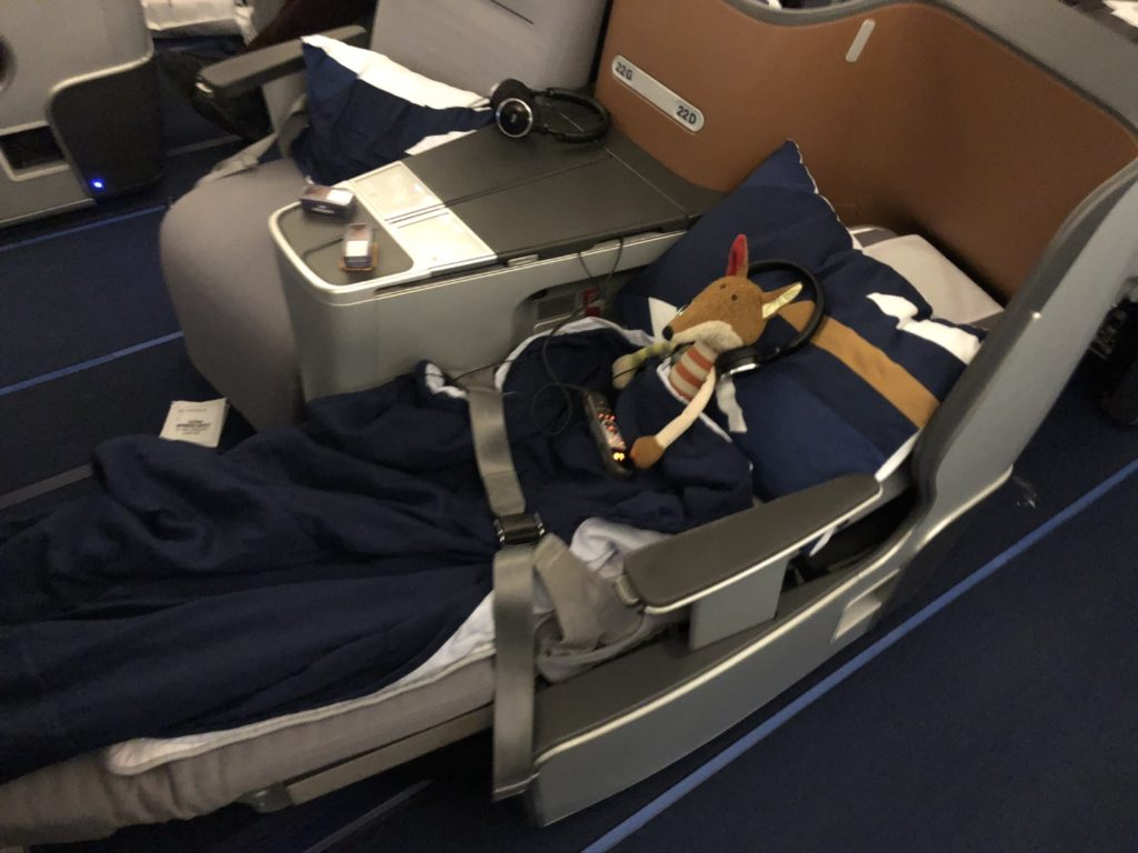 Business Class Seat on Lufthansa Airbus A380