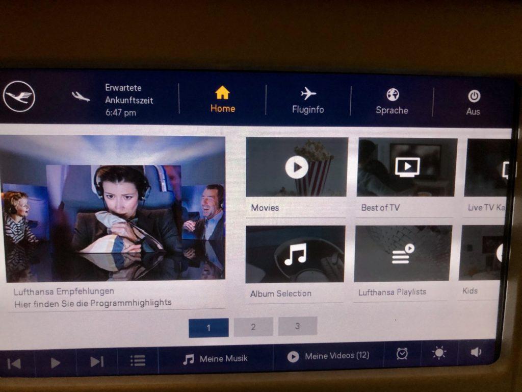 Lufthansa Airbus A380 Inflight Entertainment Economy Class
