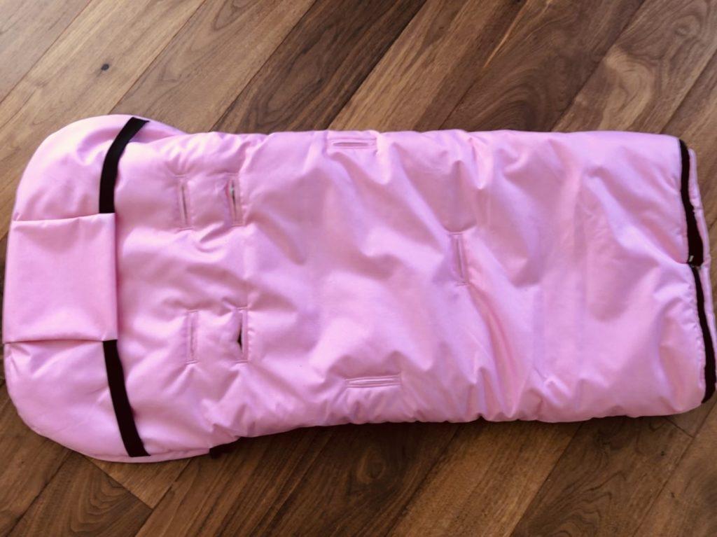 Baby-Joy Fußsack 105cm filzfrei mit Lammwolle und Beschriftung Victoria viconvacation