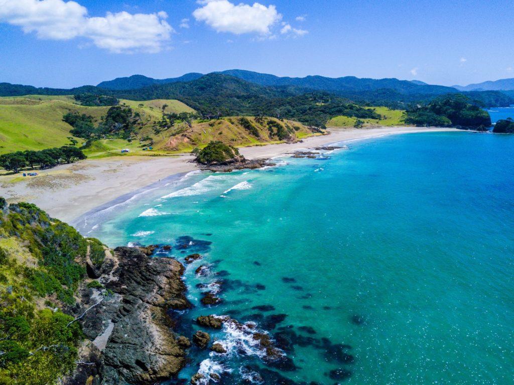 Wunderschöne Küstenlandschaft Neuseelands