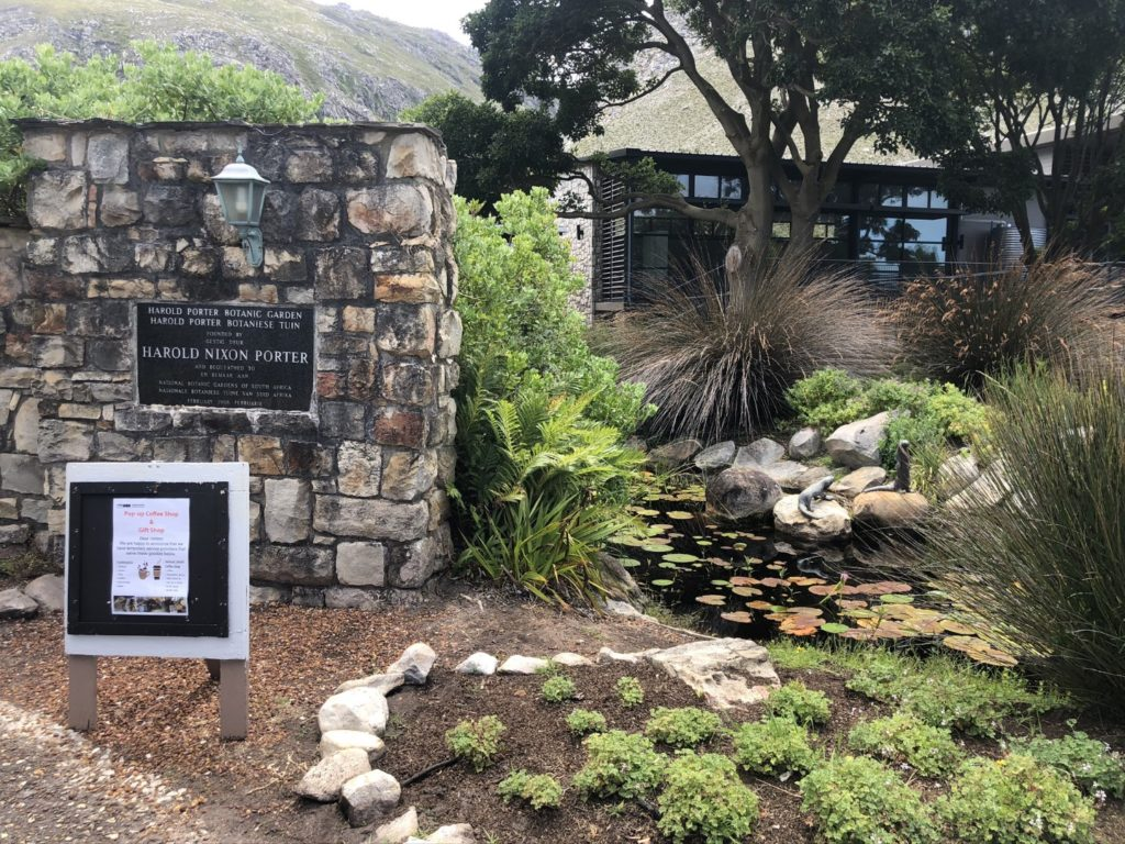 Eingang zum Harold Porter National Botanical Gardens in Betty's Bay