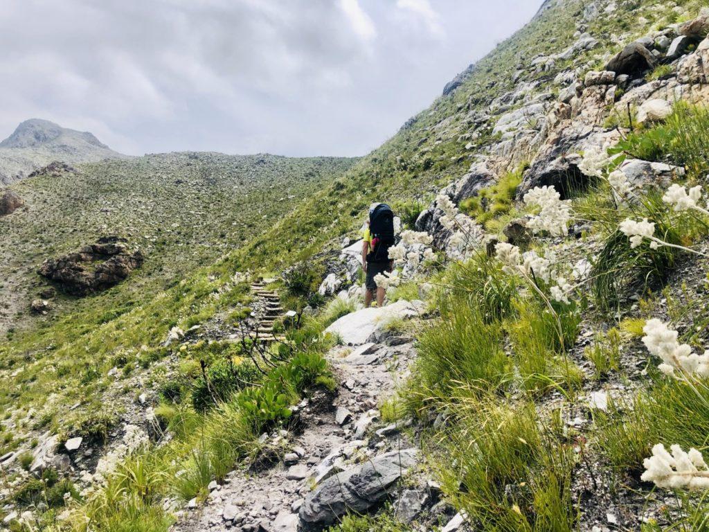 Hinunter geht es wieder entlang der Felsenwege in Richtung Western Cape und Atlantik