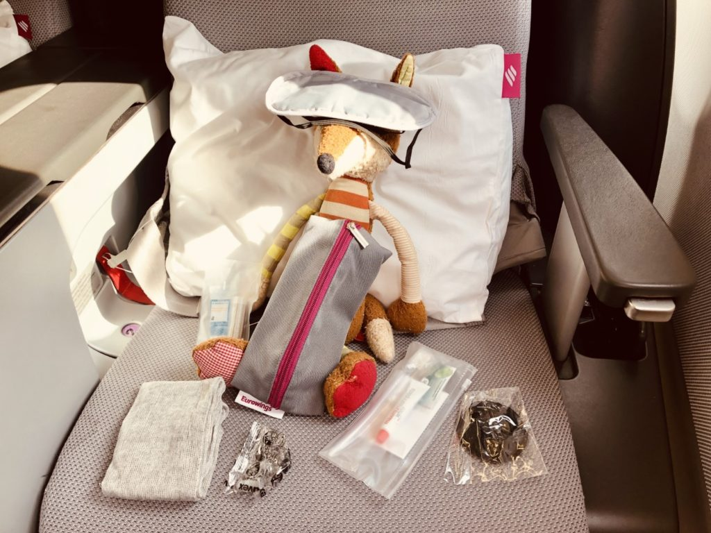 Amenity Kit in der Eurowings Business Class