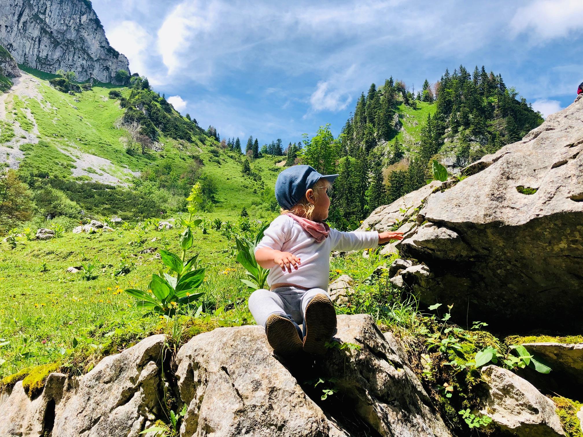 Wandern mit Kind und Kraxe: Tutzinger Hütte und Benediktenwand (1.327m)