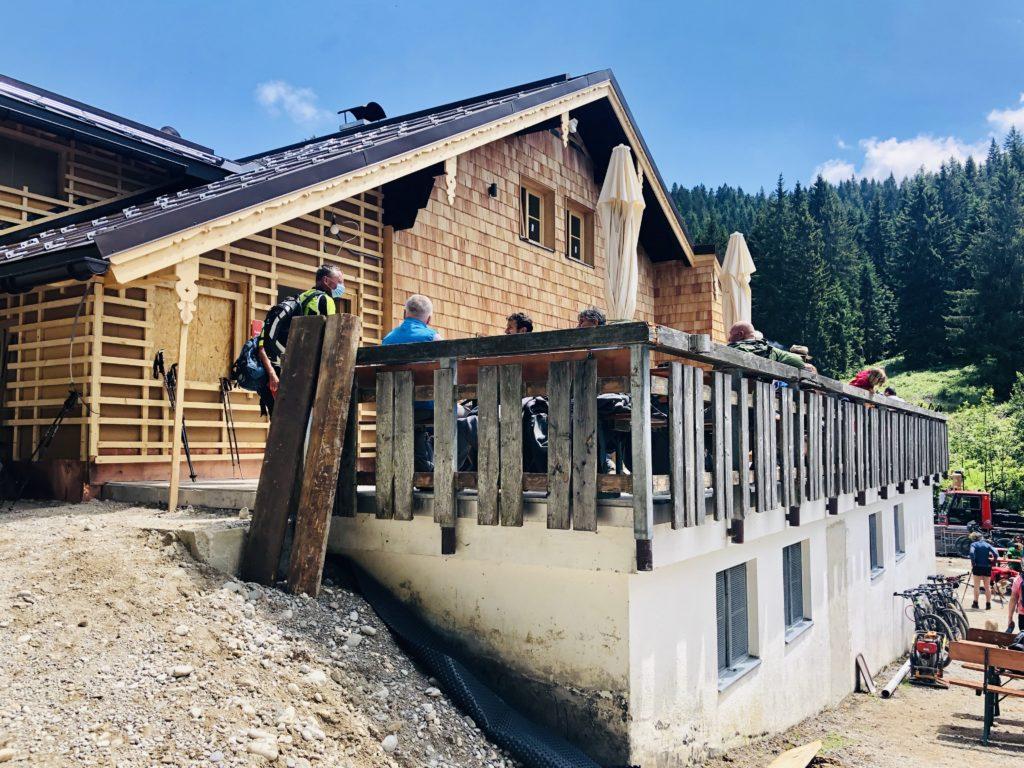 Die Lengrieser Hütte wird derzeit renoviert