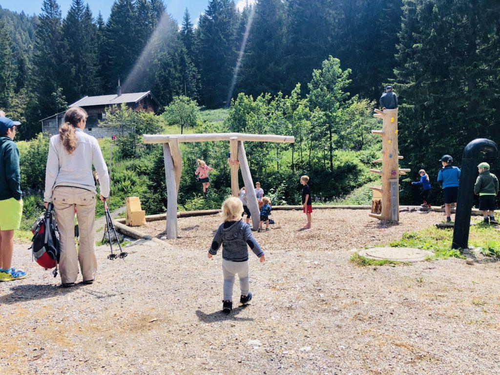 Der neue Spileplatz bei der Lengrieser Hütte