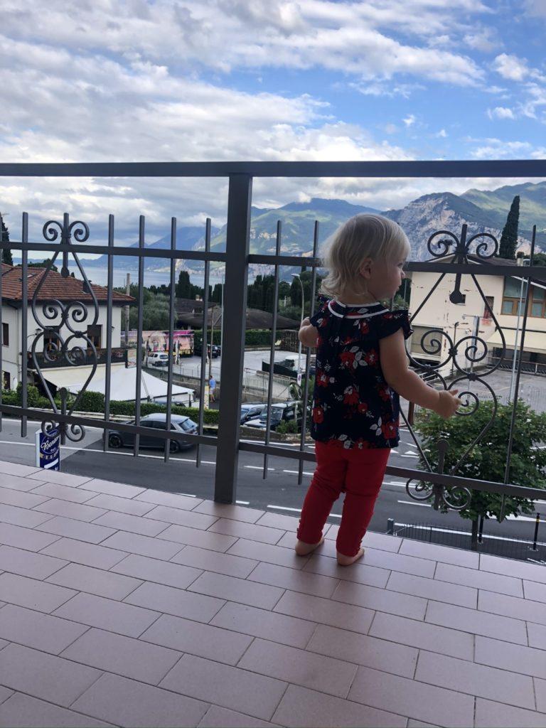 Blick vom Hotelzimmer auf den See