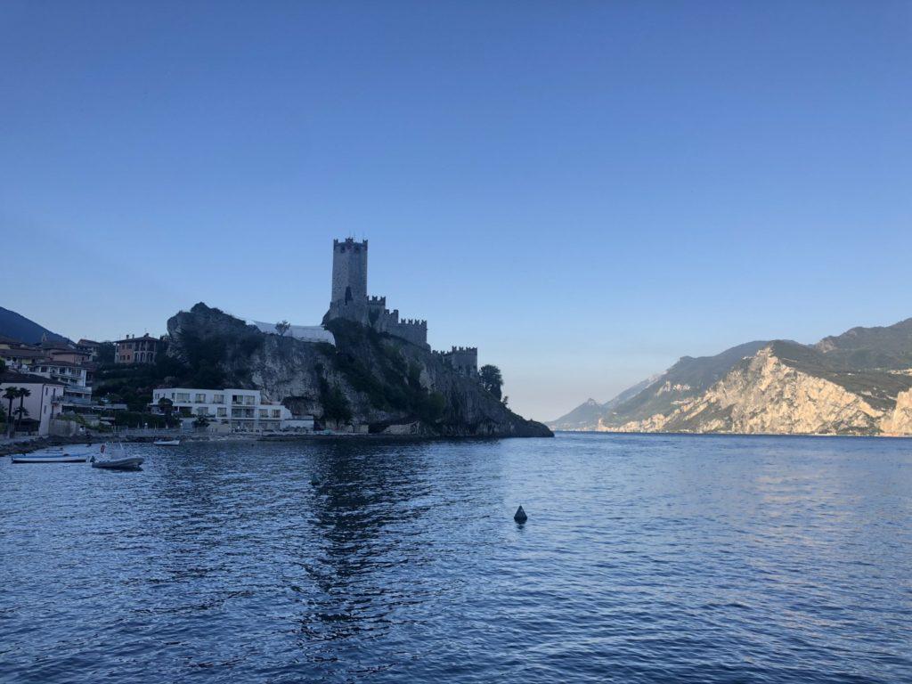 Das Castello in Malcesine um 7 Uhr Morgens